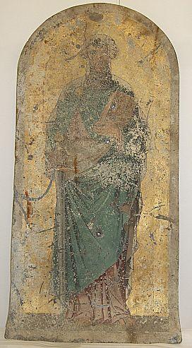 Apostel Petrus (Malerei auf Zinkblech)