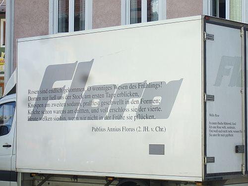 "Reklame - Florus ""Rosen sind …"""