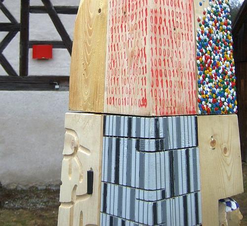 Obelisk beim Schießhaus, Neustadt an der Waldnaab, Detail