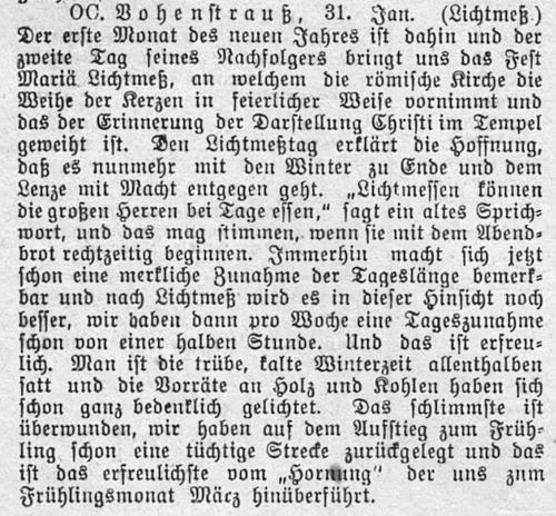 Vohenstraußer Anzeiger , 1. Febr. 1908