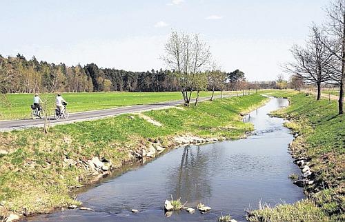 Haidenaab zwischen Hütten und Steinfels (Der neue Tag, 16. April 2009)