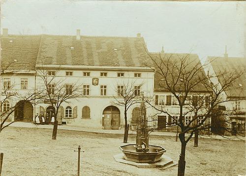 Rathaus in Vohenstrauß vor 1908 (Abriss)