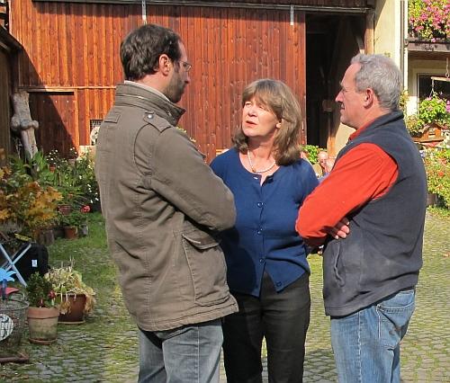 Marcus Meyer mit Ehepaar Lindner