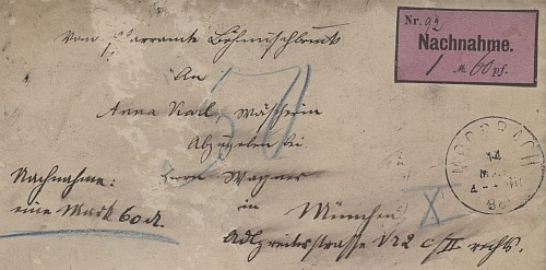 Brief an die Anna Karl 1888