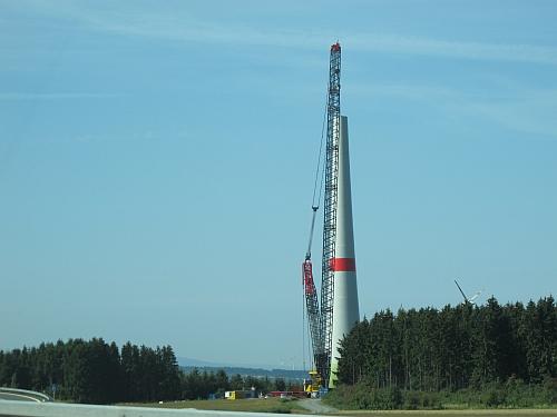Bau einer Windkraftanlage in Oberfranken