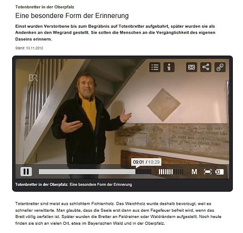 Totenbretter im Bayerischen Rundfunk