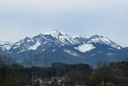 Blick vom Krankenhaus Traunstein zum Hochgern